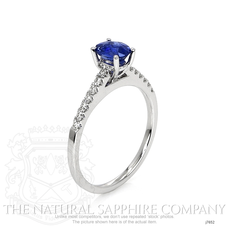 0.77ct Blue Sapphire Ring Image 2