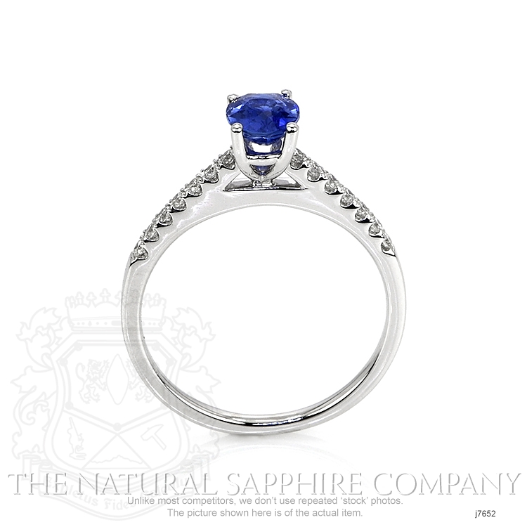 0.77ct Blue Sapphire Ring Image 4