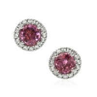 1.70ct Pink Sapphire Earring - J7655