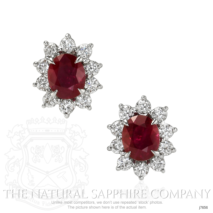 1.74ct Ruby Earring Image