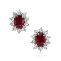 1.74ct Ruby Earring - J7656