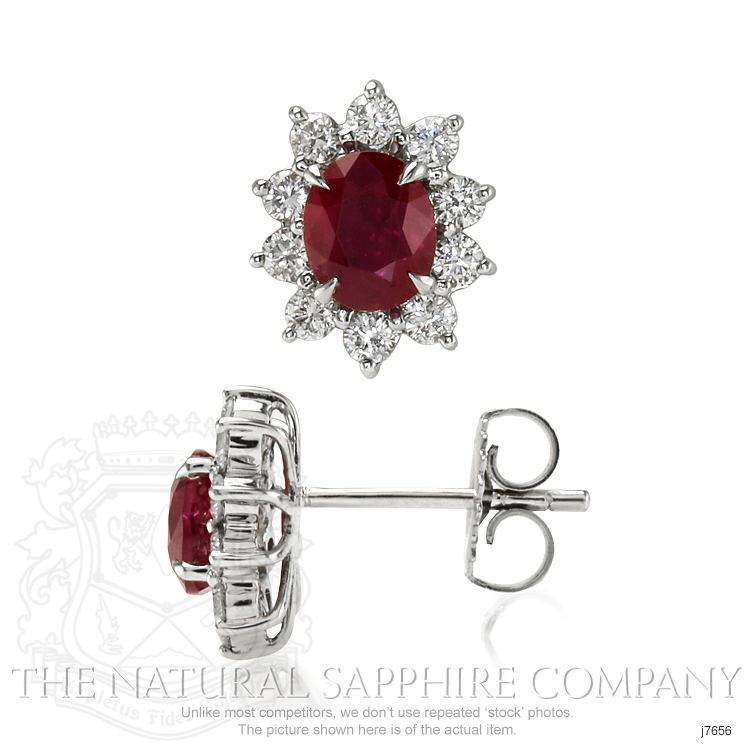 1.74ct Ruby Earring Image 2