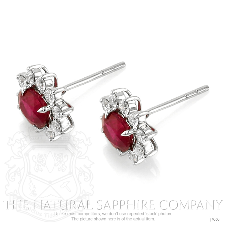 1.74ct Ruby Earring Image 3