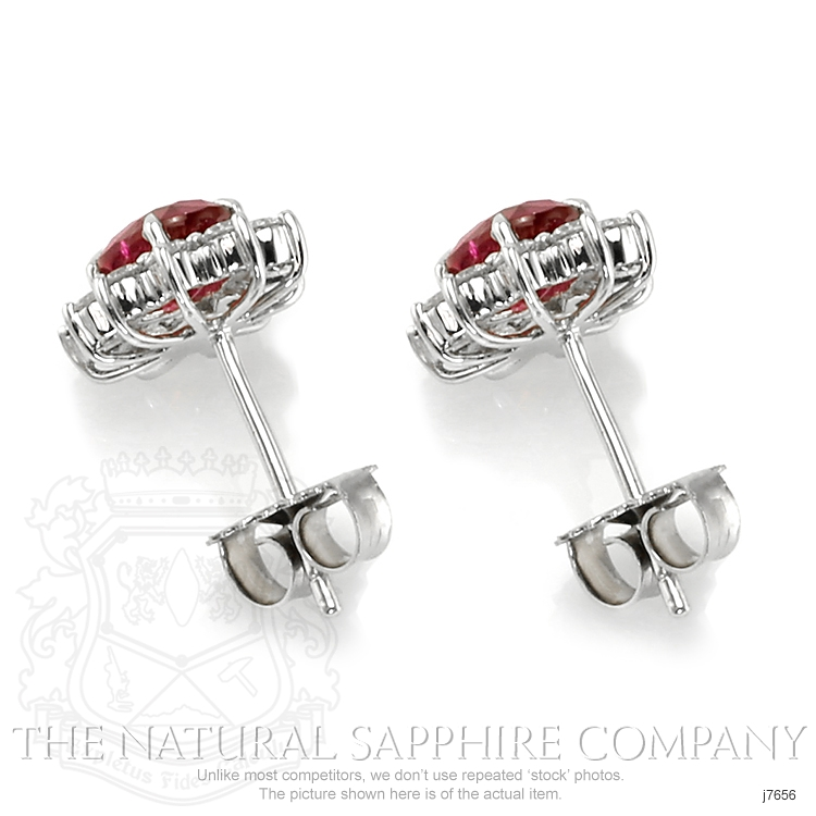 1.74ct Ruby Earring Image 4