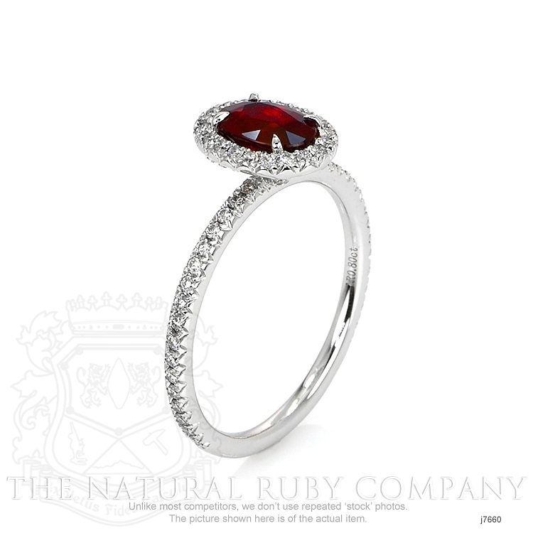 0.80ct Ruby Ring Image 2