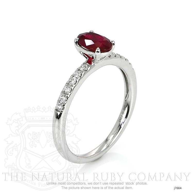 0.96ct Ruby Ring Image 2
