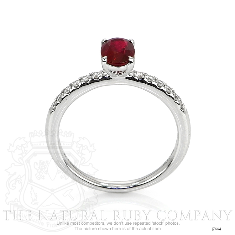 0.96ct Ruby Ring Image 4
