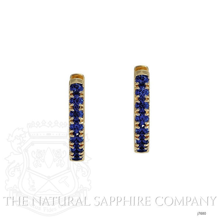 0.36ct Blue Sapphire Earring Image