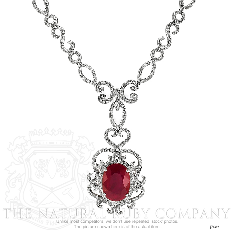 8.20ct Ruby Necklace Image