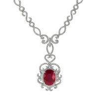 8.20ct Ruby Necklace - J7683