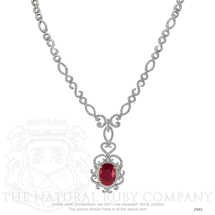 8.20ct Ruby Necklace Image 2