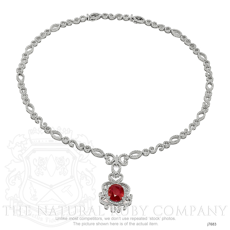 8.20ct Ruby Necklace Image 3