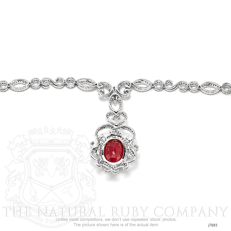 8.20ct Ruby Necklace Image 4