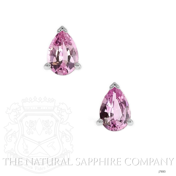 0.75ct Pink Sapphire Earring Image