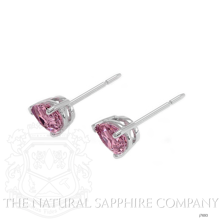 0.75ct Pink Sapphire Earring Image 3