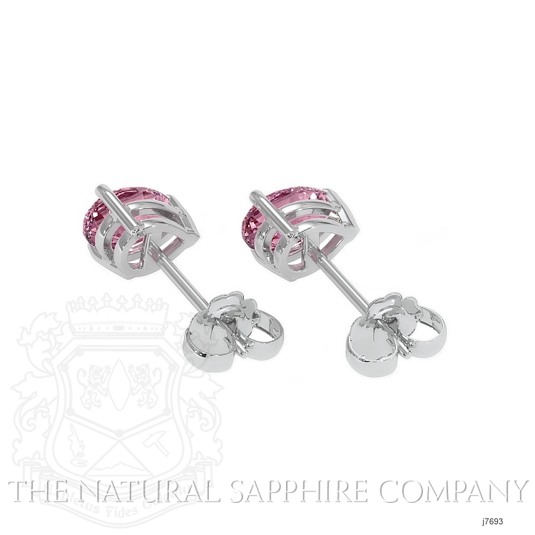0.75ct Pink Sapphire Earring Image 4