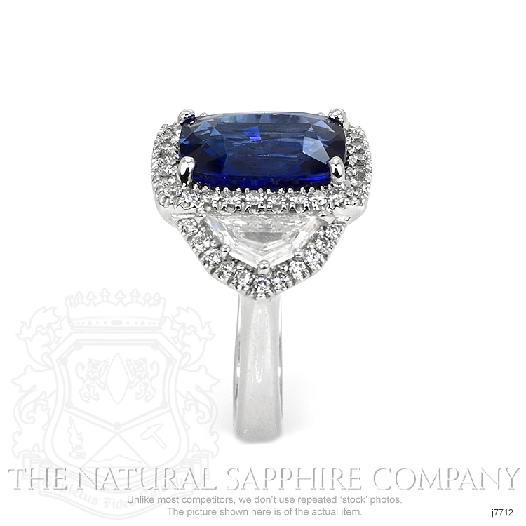 6.97ct Blue Sapphire Ring Image 3