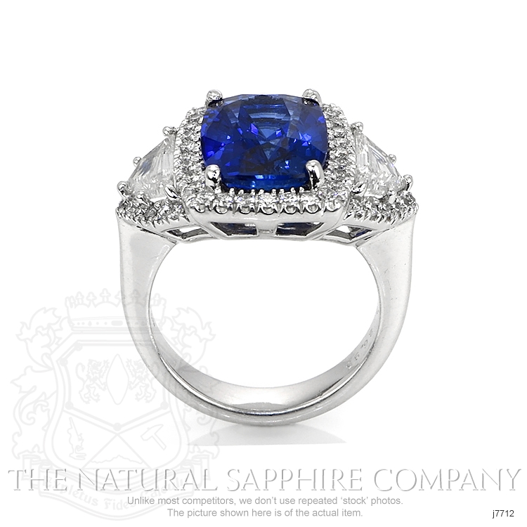 6.97ct Blue Sapphire Ring Image 4