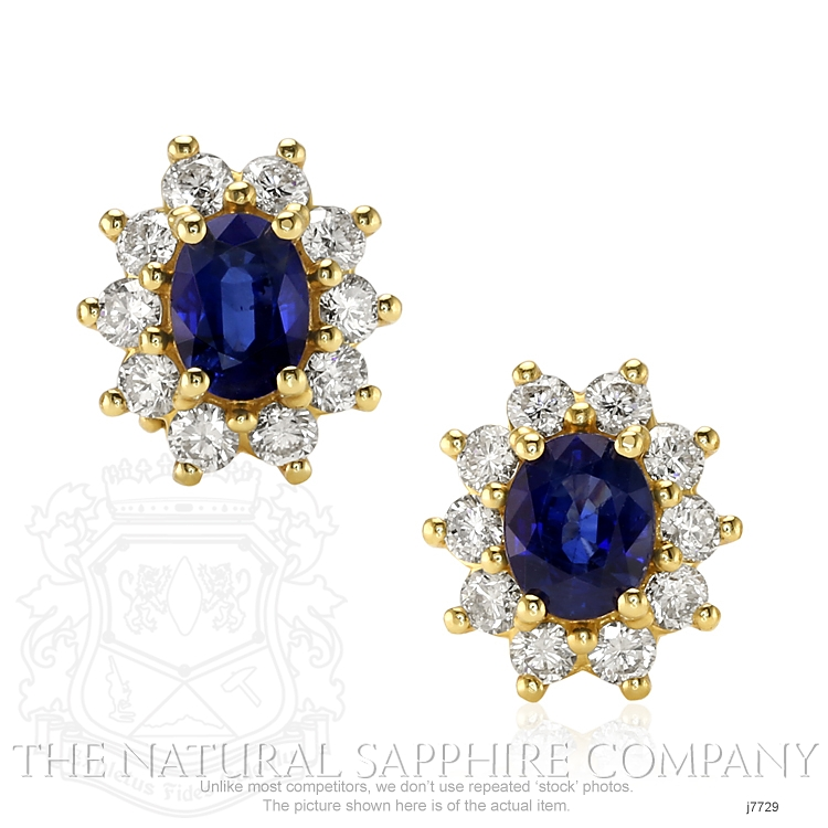 1.80ct Blue Sapphire Earring Image