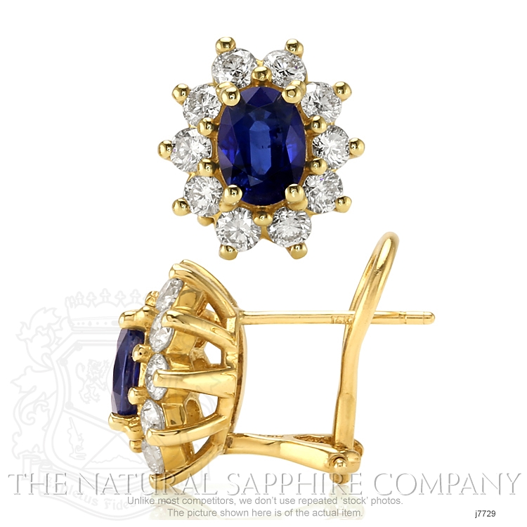 1.80ct Blue Sapphire Earring Image 2