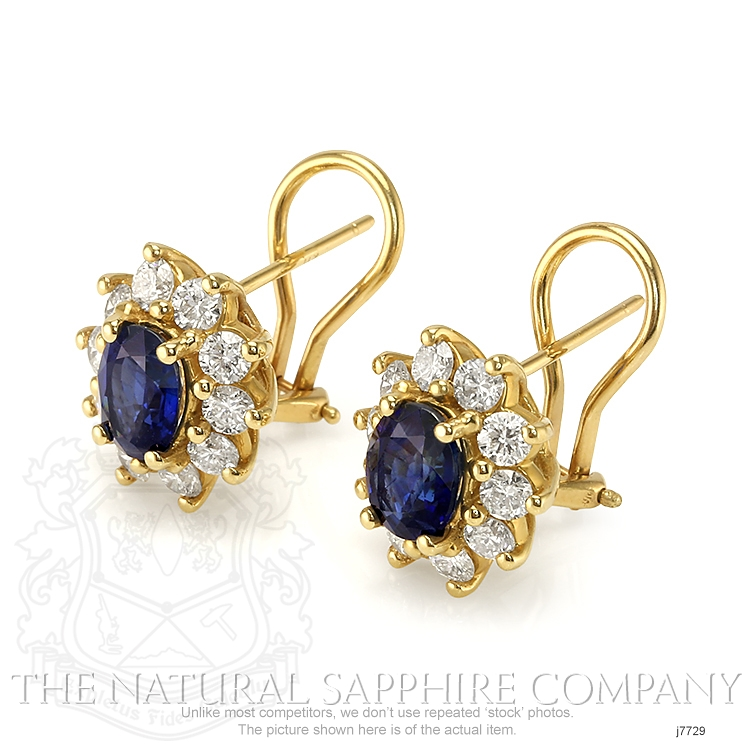 1.80ct Blue Sapphire Earring Image 3