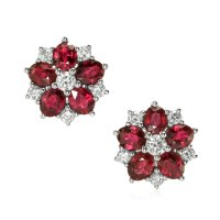 2.30ct Ruby Earring - J7730