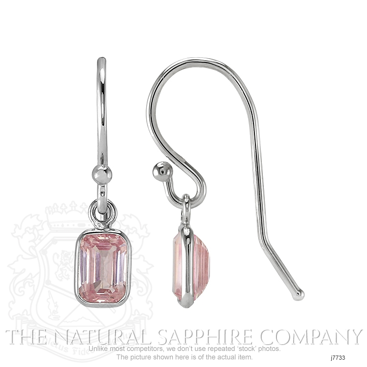 0.60ct Pink Sapphire Earring Image 2