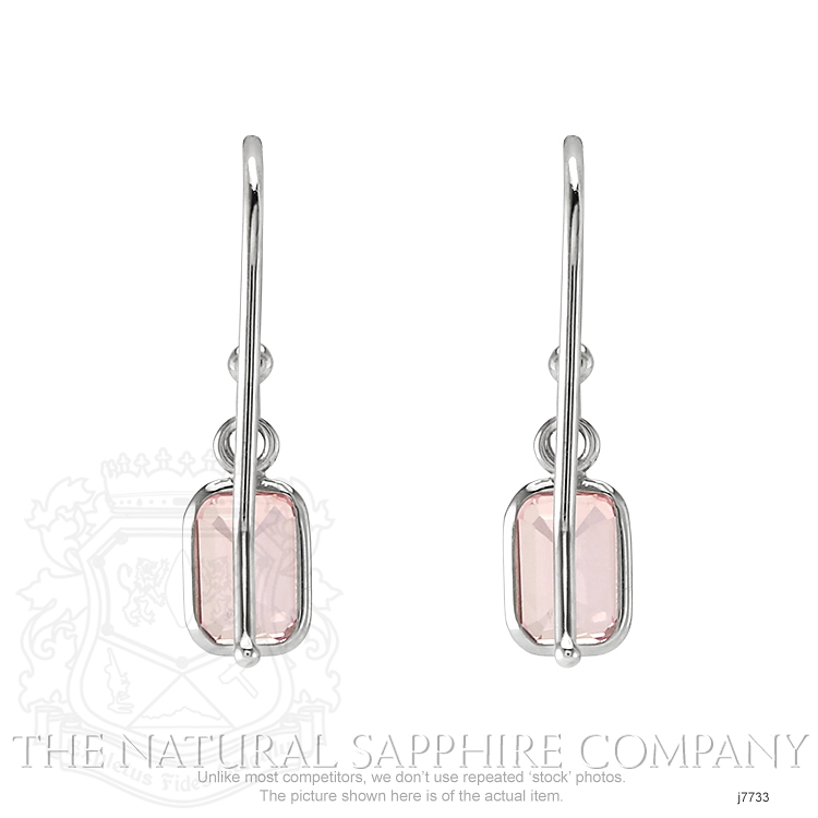 0.60ct Pink Sapphire Earring Image 4