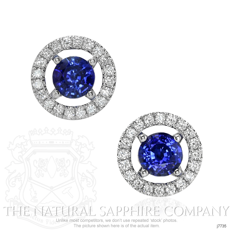 1.58ct Blue Sapphire Earring Image