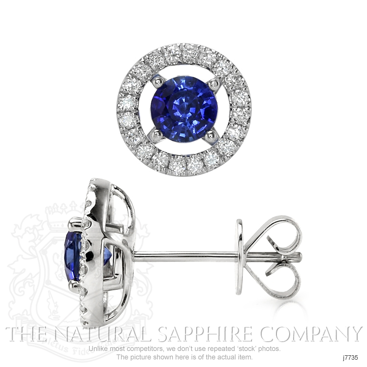 1.58ct Blue Sapphire Earring Image 2