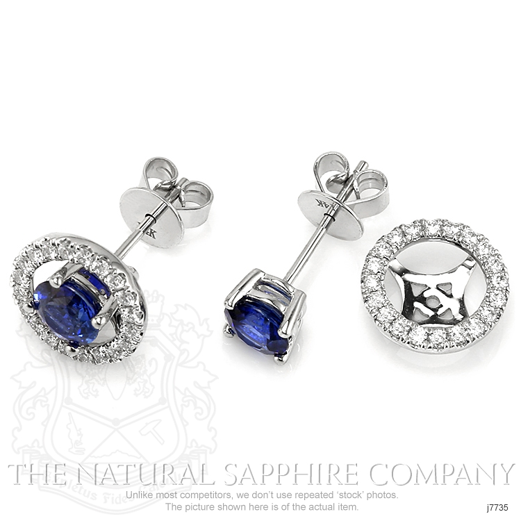 1.58ct Blue Sapphire Earring Image 3