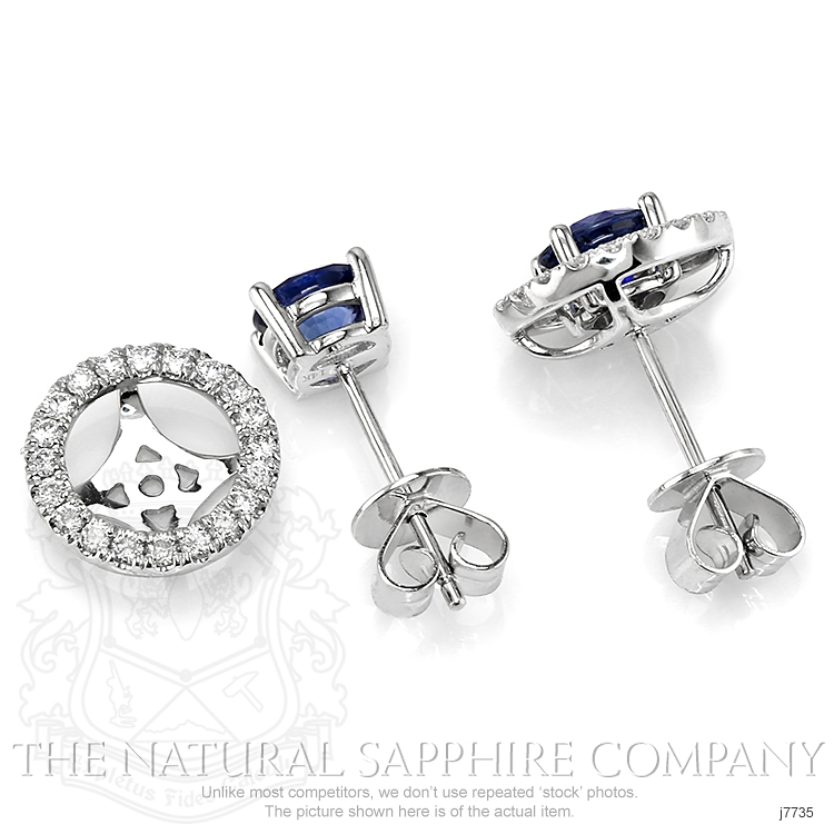 1.58ct Blue Sapphire Earring Image 4