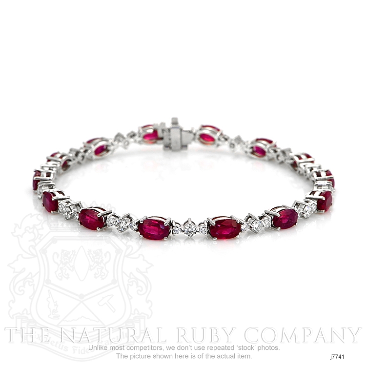8.40ct Ruby Bracelet Image 2