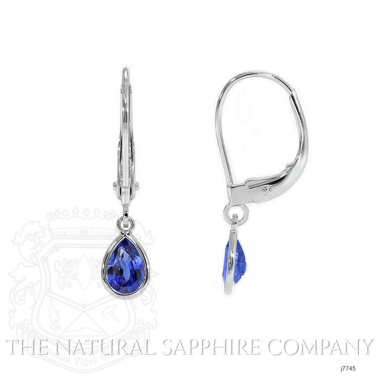 1.00ct Blue Sapphire Earring Image 2