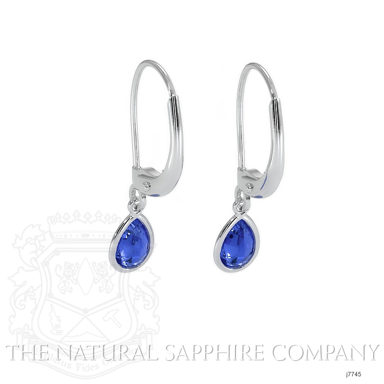 1.00ct Blue Sapphire Earring Image 4