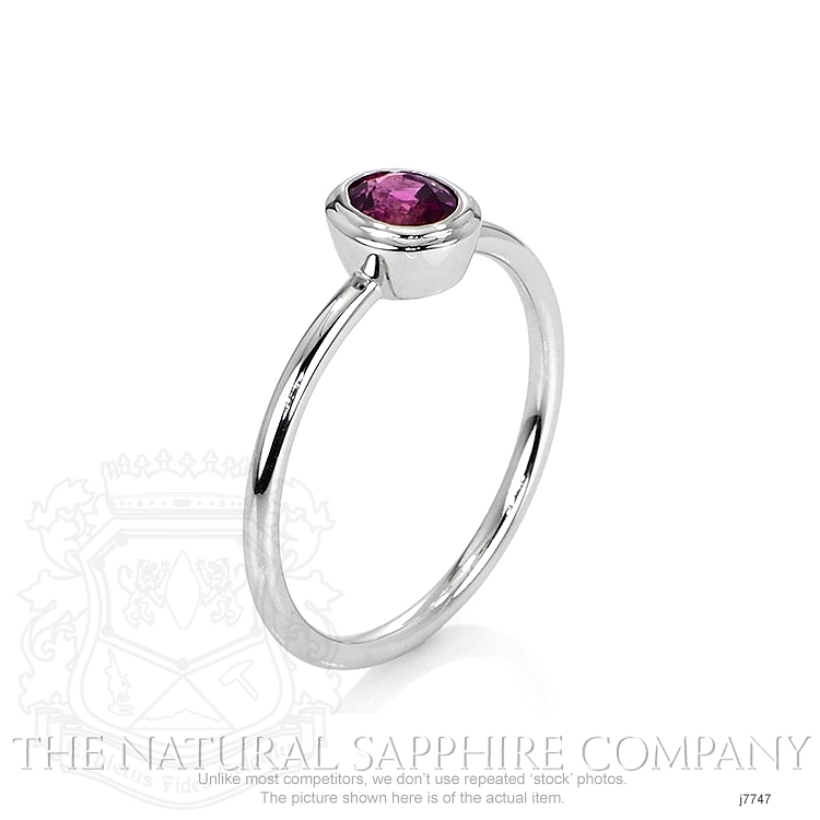 0.60ct Pink Sapphire Ring Image 2
