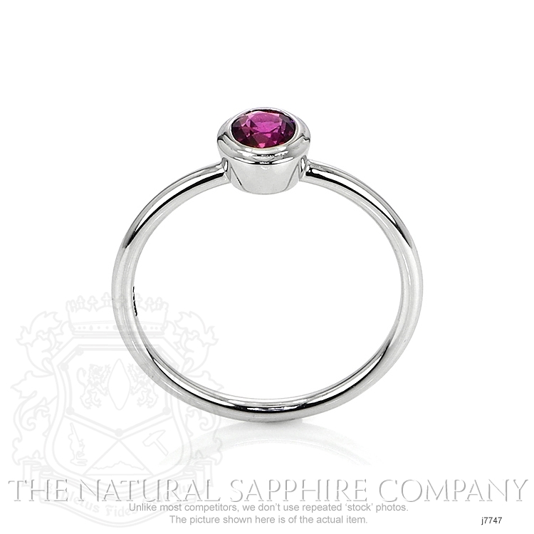 0.60ct Pink Sapphire Ring Image 4