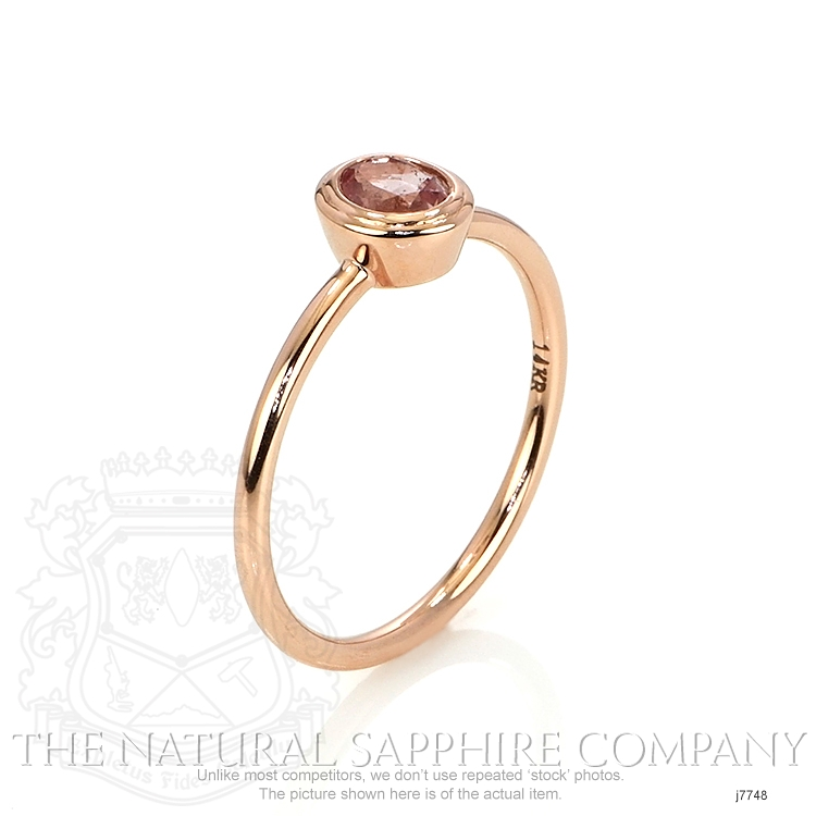 0.56ct Pink Sapphire Ring Image 2