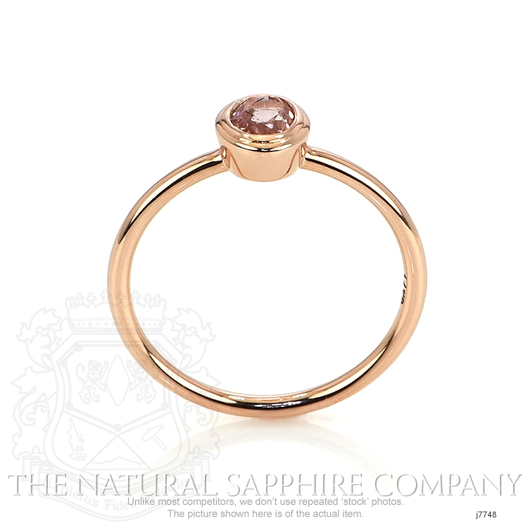 0.56ct Pink Sapphire Ring Image 4