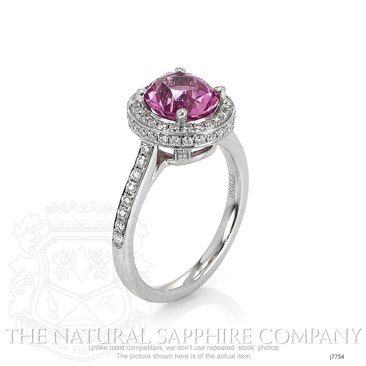 2.79ct Pink Sapphire Ring Image 2