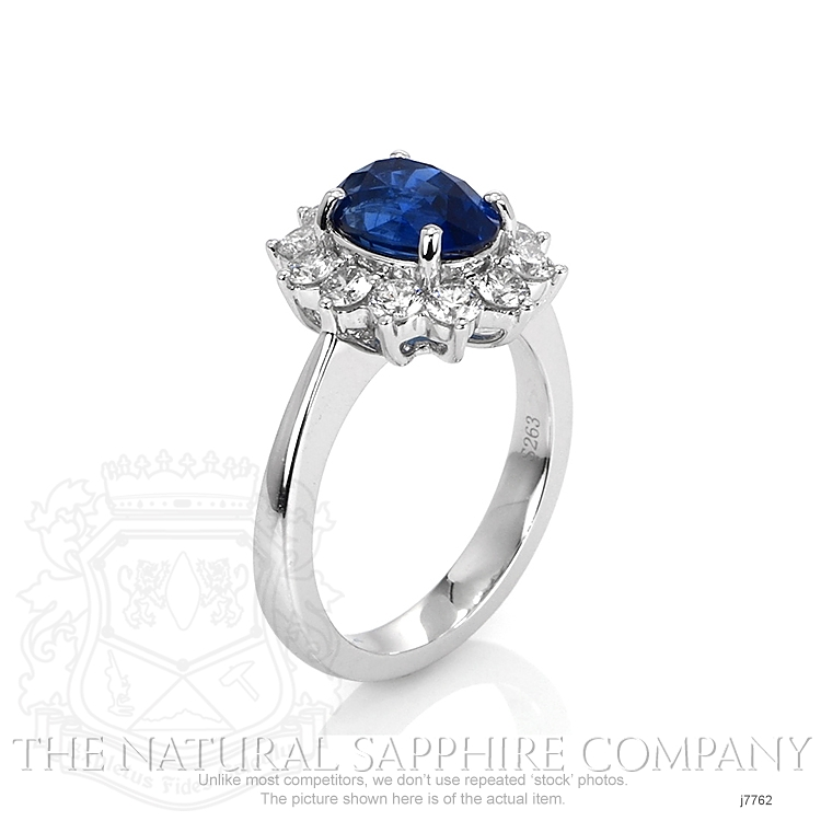 2.63ct Blue Sapphire Ring Image 2