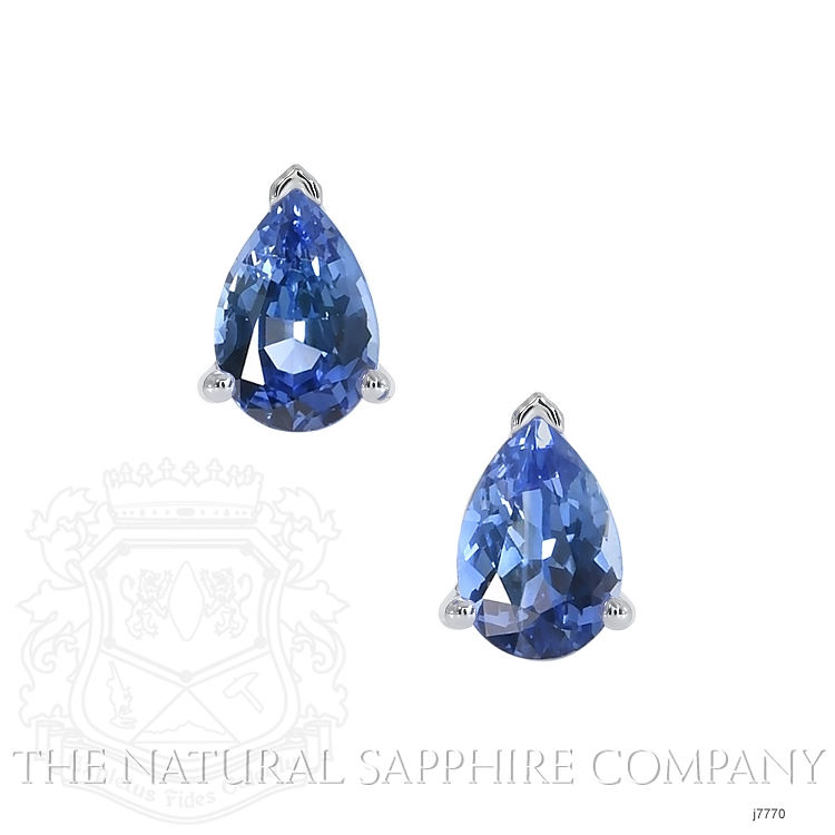 1.00ct Blue Sapphire Earring Image