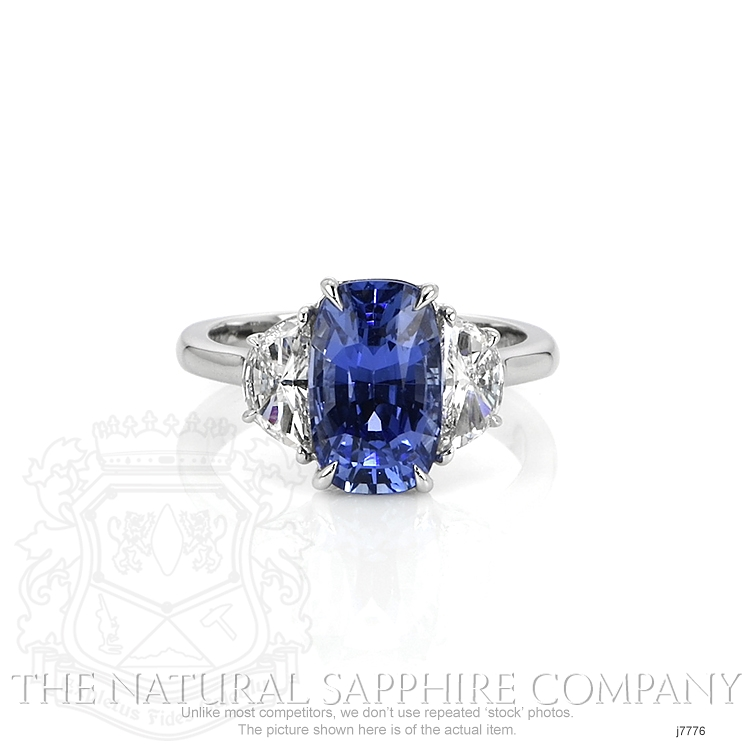 3.71ct Blue Sapphire Ring Image