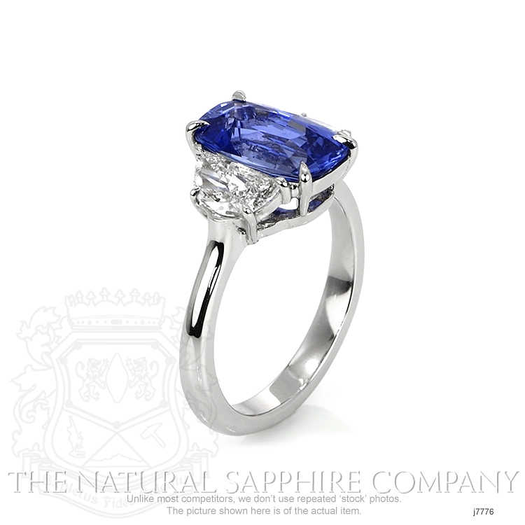 3.71ct Blue Sapphire Ring Image 2