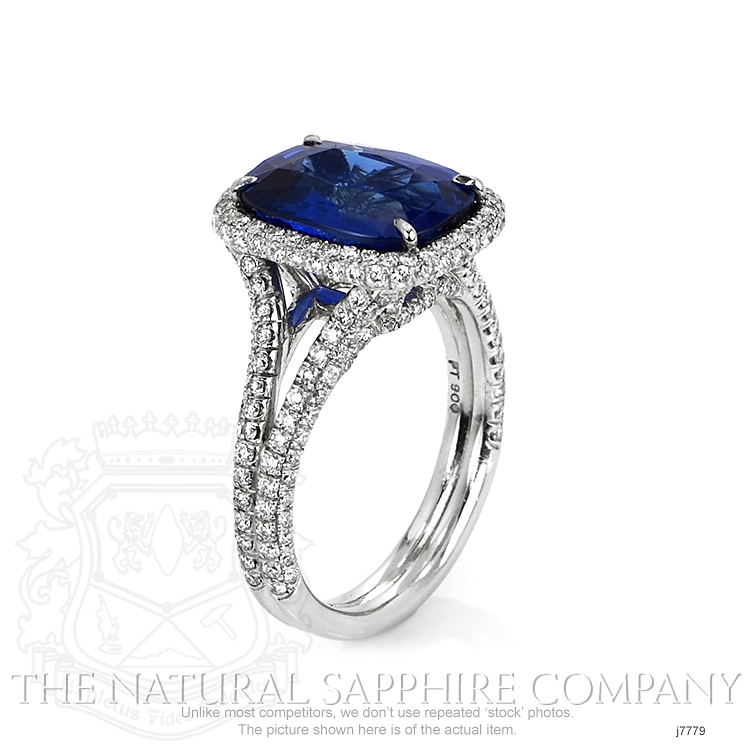 5.65ct Blue Sapphire Ring Image 2