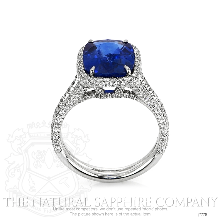 5.65ct Blue Sapphire Ring Image 4