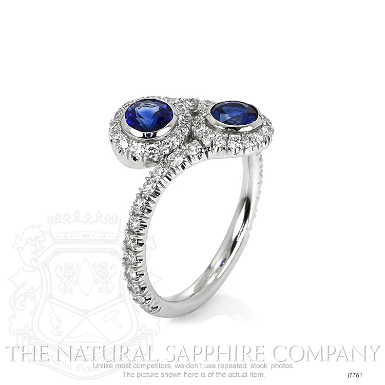 0.78ct Blue Sapphire Ring Image 2