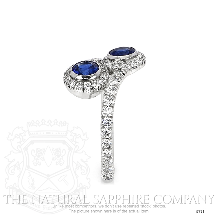 0.78ct Blue Sapphire Ring Image 3