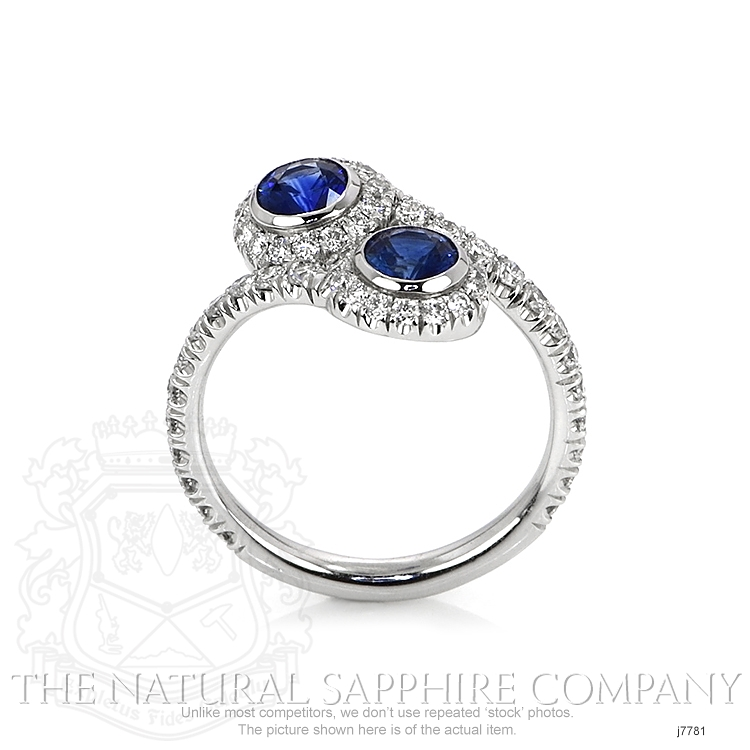 0.78ct Blue Sapphire Ring Image 4