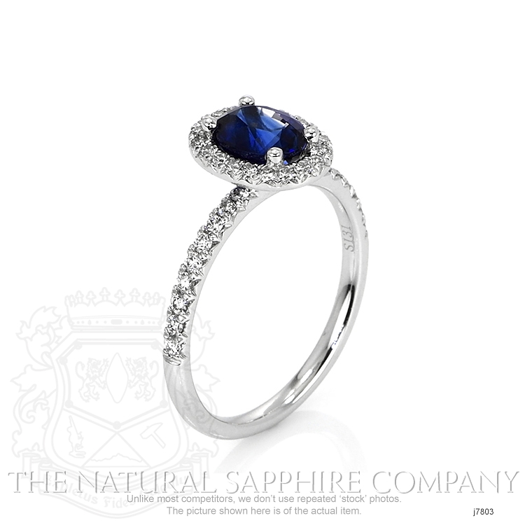 1.31ct Blue Sapphire Ring Image 2